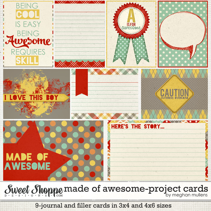 Made Of Awesome-Project Cards by Meghan Mullens