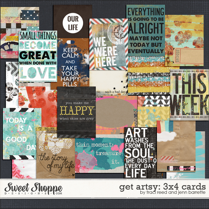 Get Artsy: 3x4 Journaling Cards by Traci Reed & Jenn Barrette