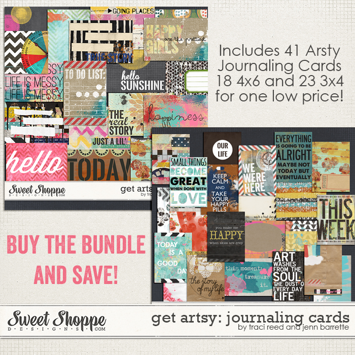 Get Artsy: Journaling Cards by Traci Reed and Jenn Barrette