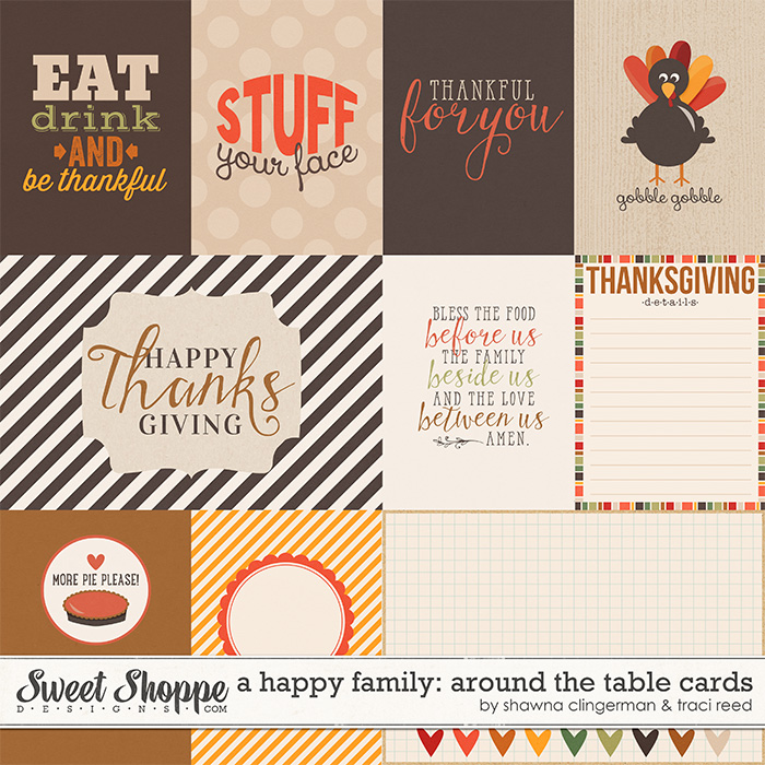 A Happy Family: Around the Table Cards by Shawna Clingerman and Traci Reed