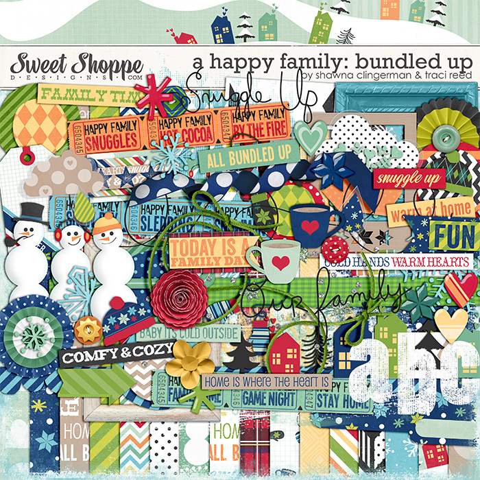 A Happy Family: Bundled Up by Traci Reed and Shawna Clingerman