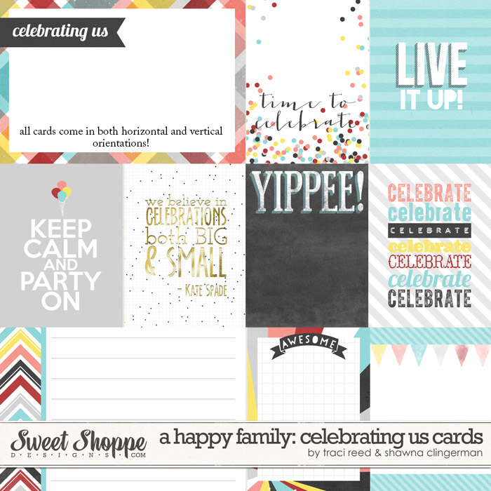 A Happy Family: Celebrating Us Cards by Traci Reed and Shawna Clingerman