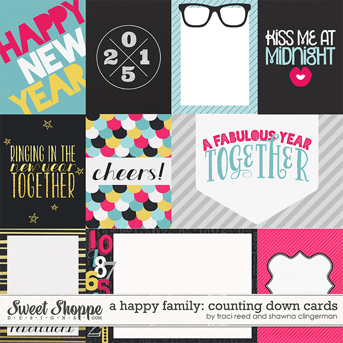A Happy Family: Counting Down Cards by Traci Reed and Shawna Clingerman