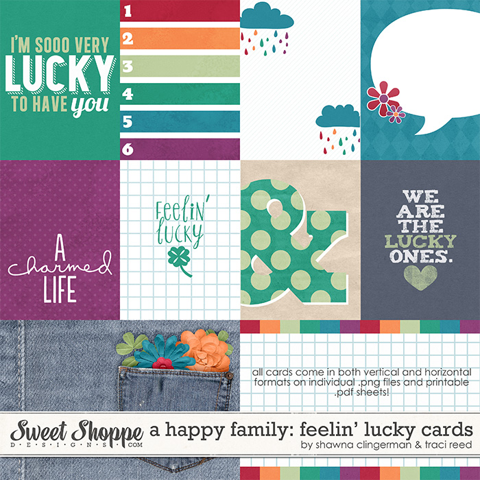 A Happy Family: Feelin' Lucky Cards by Traci Reed and Shawna Clingerman