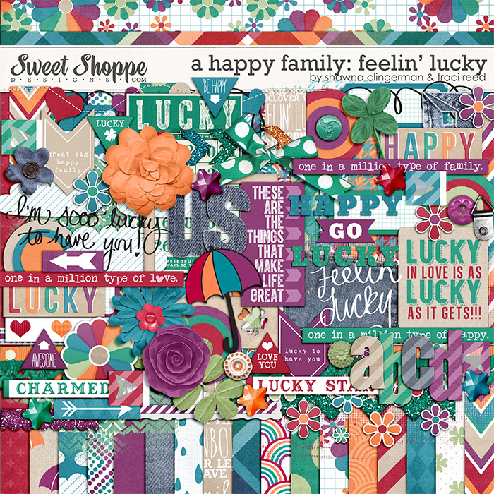 A Happy Family: Feelin' Lucky by Traci Reed and Shawna Clingerman