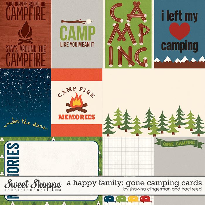A Happy Family: Gone Camping Cards by Traci Reed and Shawna Clingerman