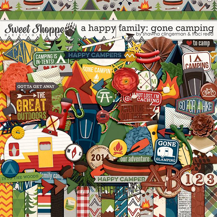 A Happy Family: Gone Camping by Traci Reed and Shawna Clingerman