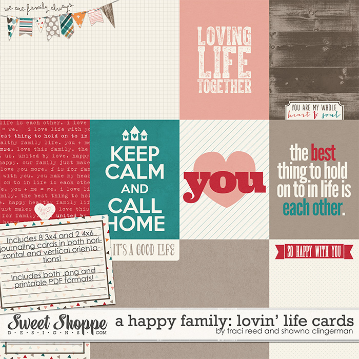 A Happy Family: Lovin' Life Cards by Traci Reed and Shawna Clingerman