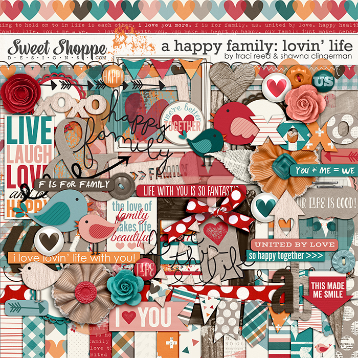 A Happy Family: Lovin' Life by Traci Reed and Shawna Clingerman