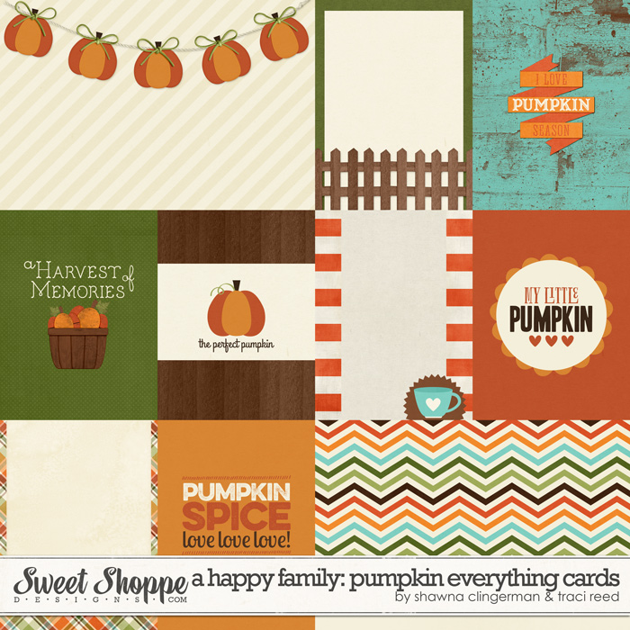 A Happy Family: Pumpkin Everything Cards by Traci Reed & Shawna Clingerman