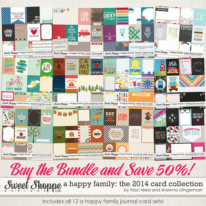 A Happy Family Cards: The 2014 Collection by Traci Reed and Shawna Clingerman