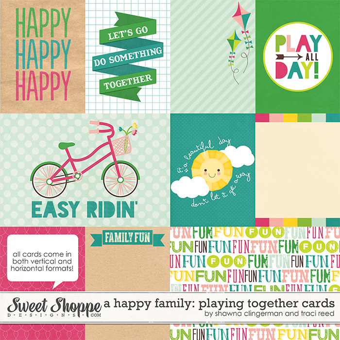 A Happy Family: Playing Together Cards by Traci Reed and Shawna Clingerman
