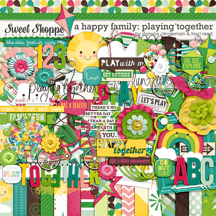A Happy Family: Playing Together by Traci Reed and Shawna Clingerman