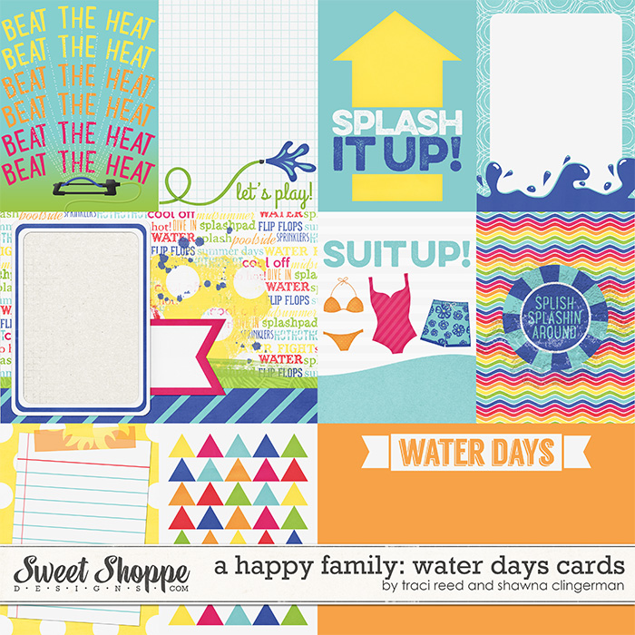 A Happy Family: Water Days Cards by Traci Reed and Shawna Clingerman
