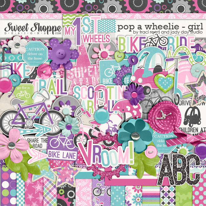 Pop A Wheelie: Girl by Traci Reed & Jady Day Studio