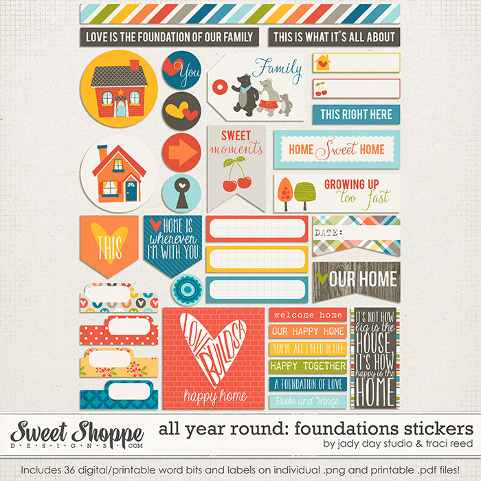 All Year Round: Foundations Stickers by Jady Day Studio and Traci Reed