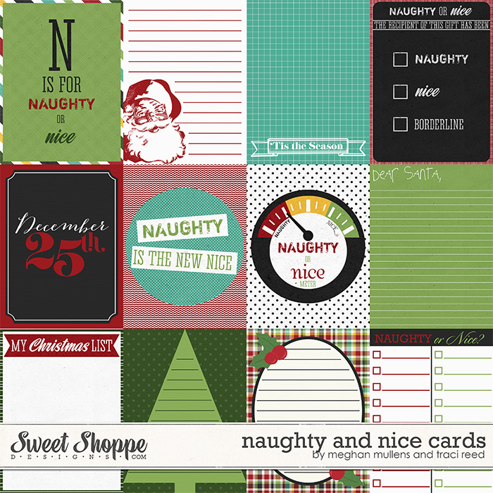 Naughty & Nice Project Cards by Traci Reed & Meghan Mullens