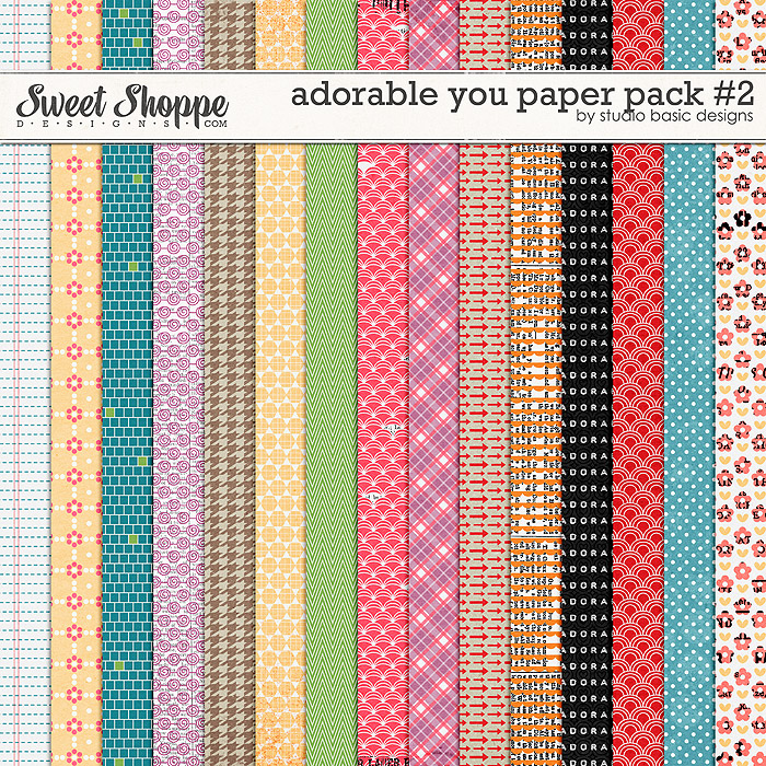Adorable You Paper Pack #2 by Studio Basic