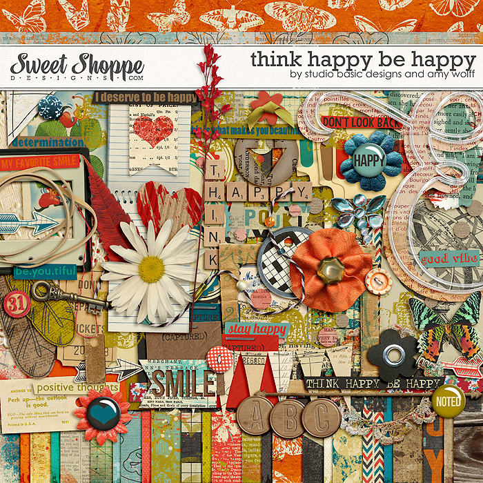 Think Happy Be Happy by Studio Basic and Amy Wolff