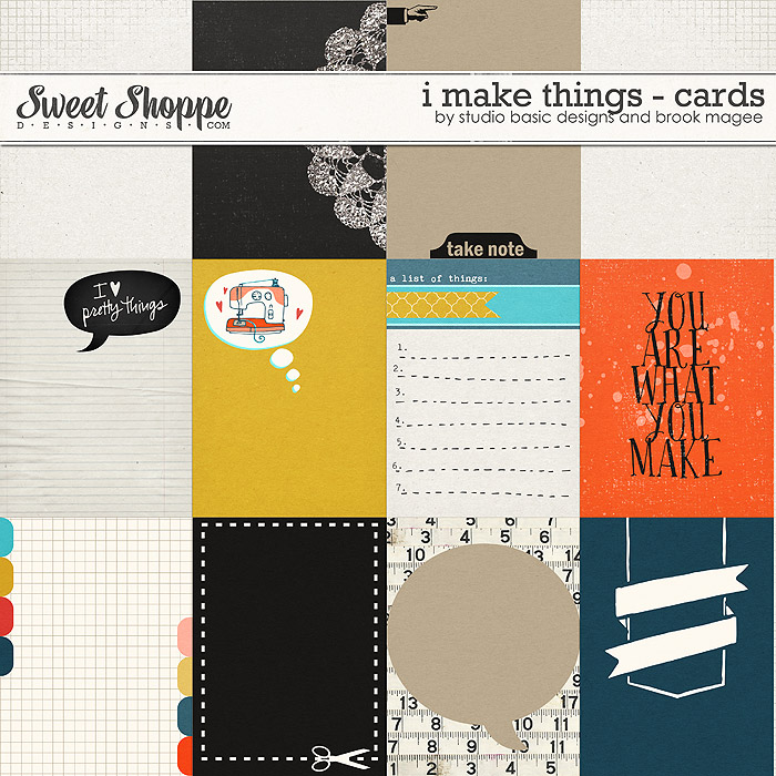 I Make Things Cards by Studio Basic and Brook Magee