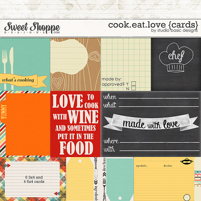 Cook.Eat.Love {cards} by Studio Basic