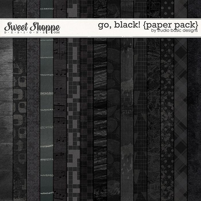 Go, Black! {paper pack} by Studio Basic