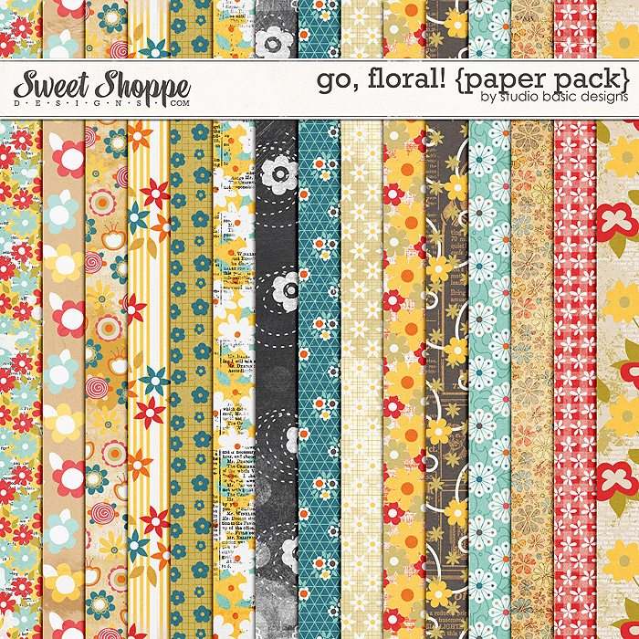 Go, Floral! {paper pack} by Studio Basic