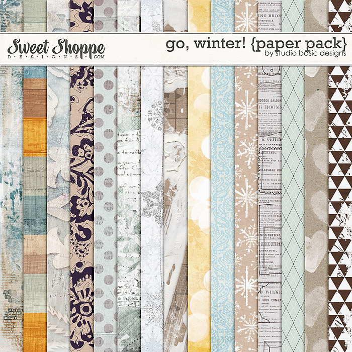 Go, Winter! {paper pack} by Studio Basic