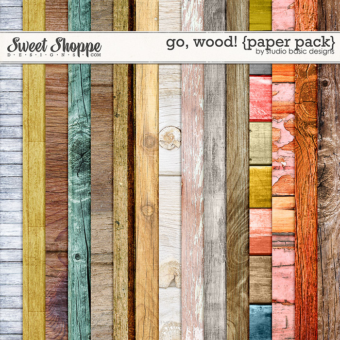 Go, Wood! {paper pack} by Studio Basic