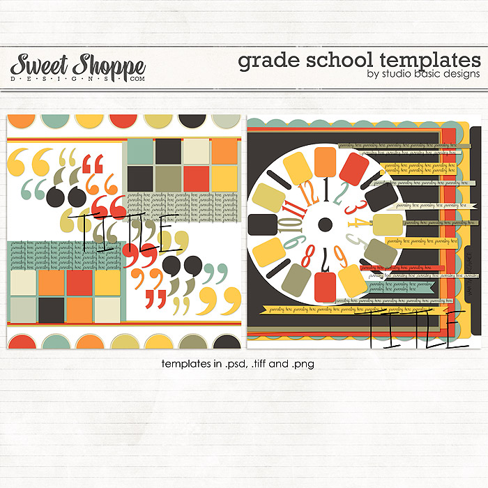 Grade School Templates by Studio Basic