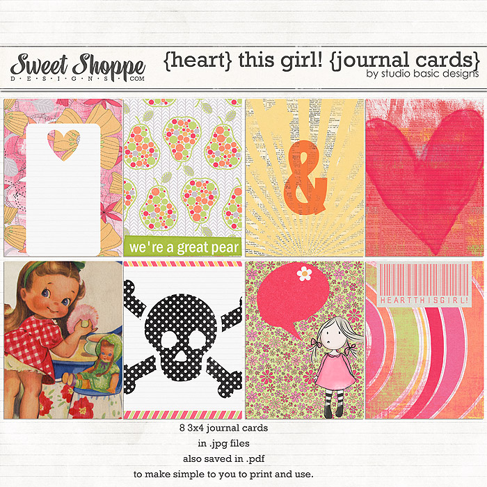 {heart} This Girl! {journal cards} by Studio Basic