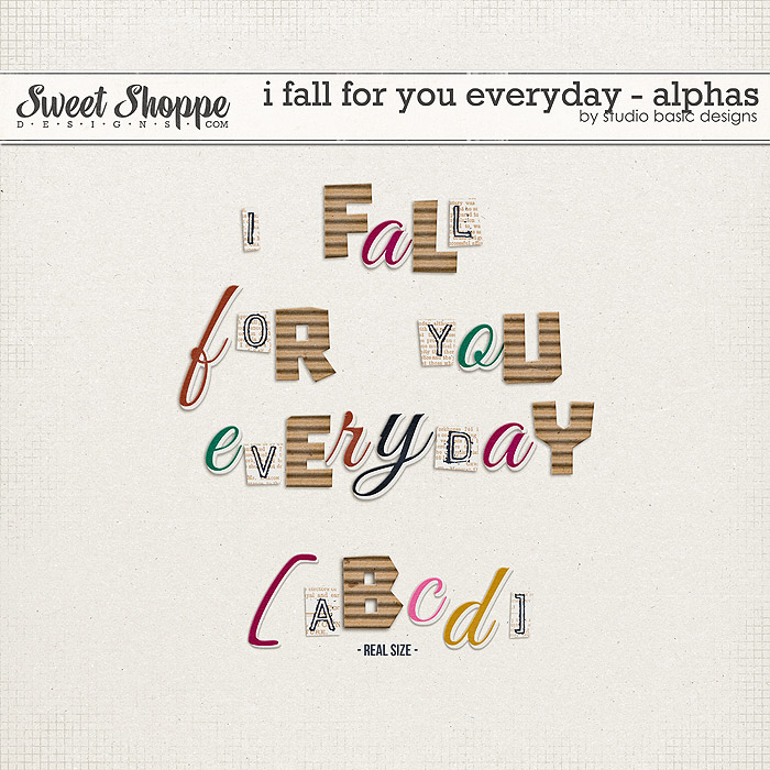 I Fall For You Everyday Alphas by Studio Basic