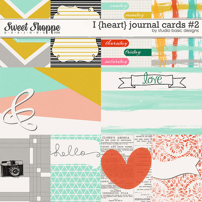 I {heart} Journal Cards #2 by Studio Basic