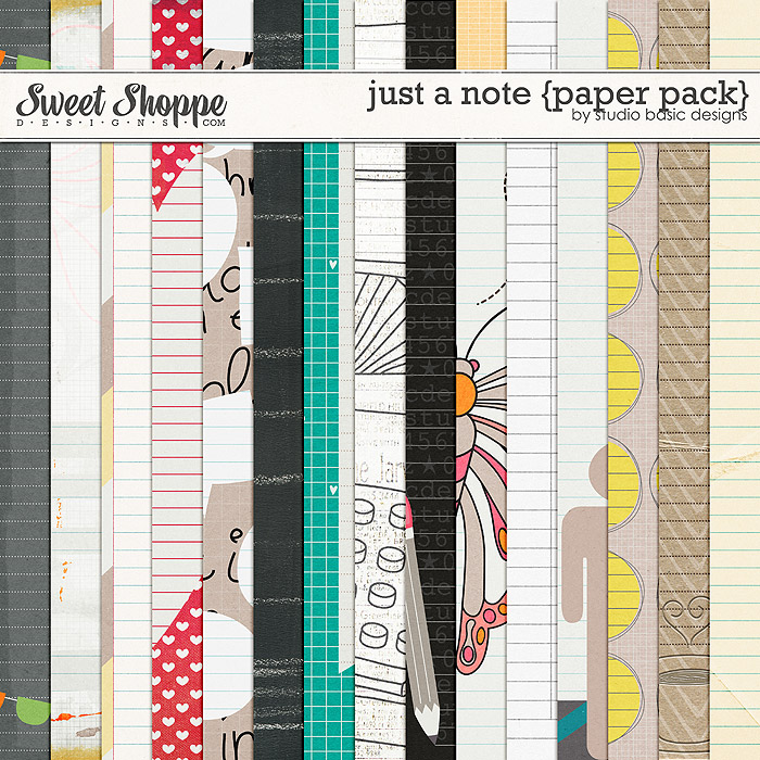Just A Note {paper pack} by Studio Basic