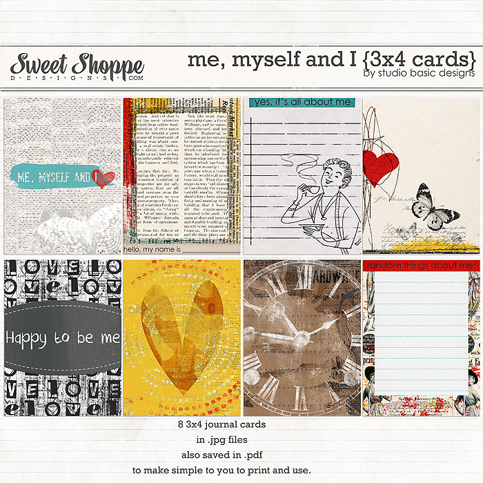 Me, Myself and I {3x4 cards} by Studio Basic
