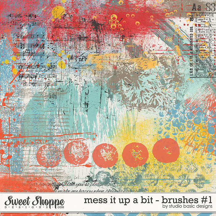 Mess It Up A Bit - Brushes #1 by Studio Basic