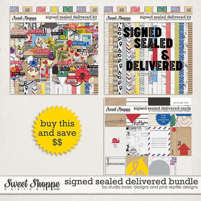 Signed Sealed & Delivered Bundle by Studio Basic and Pink Reptile Designs