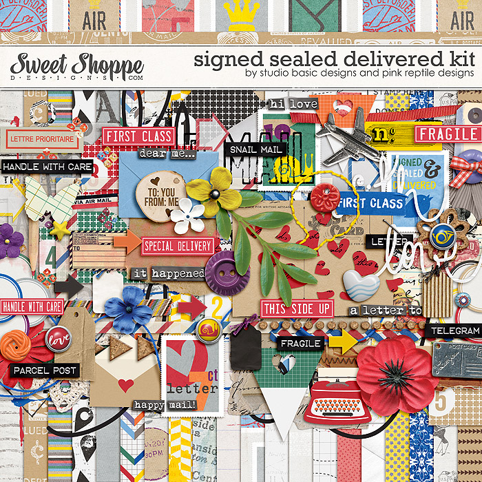 Signed Sealed & Delivered Kit by Studio Basic and Pink Reptile Designs
