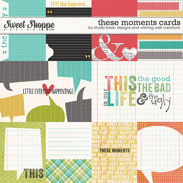 These Moments Cards by Studio Basic and Wishing Well Creations