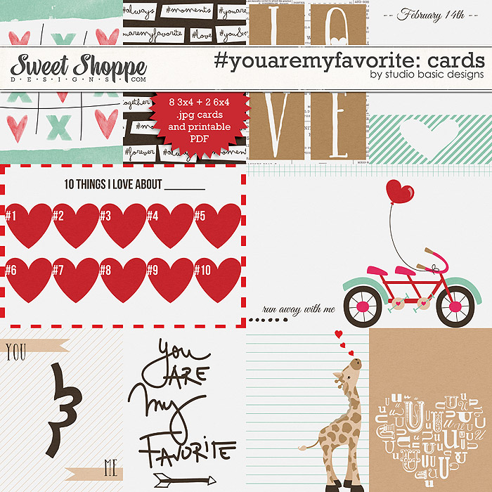 #youaremyfavorite Cards by Studio Basic