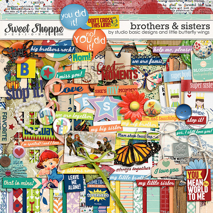 Brothers & Sisters {kit} by Studio Basic and Little Butterfly Wings
