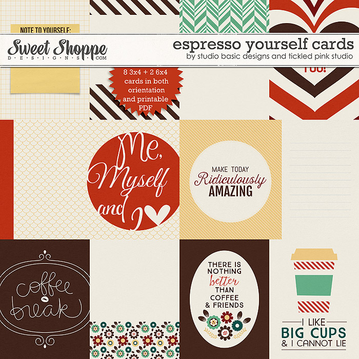 Espresso Yourself Cards by Studio Basic & Tickled Pink Studio