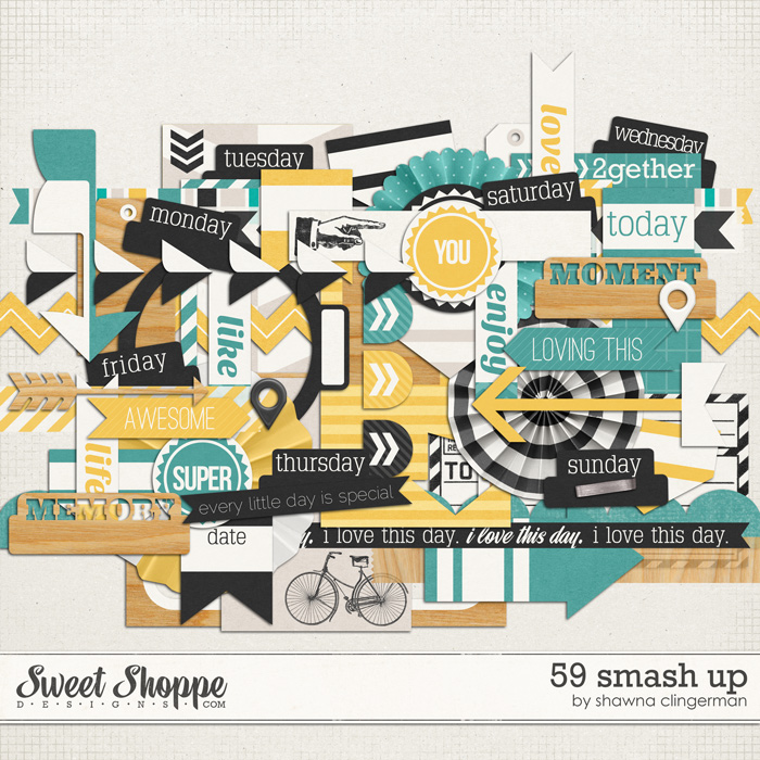 59 Smash Up Elements by Shawna Clingerman