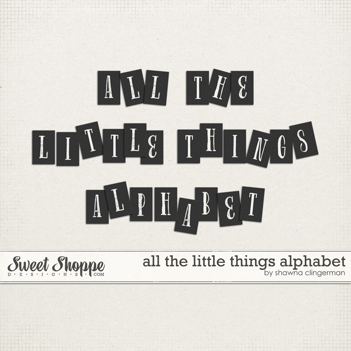 All The Little Things Alphabet by Shawna Clingerman
