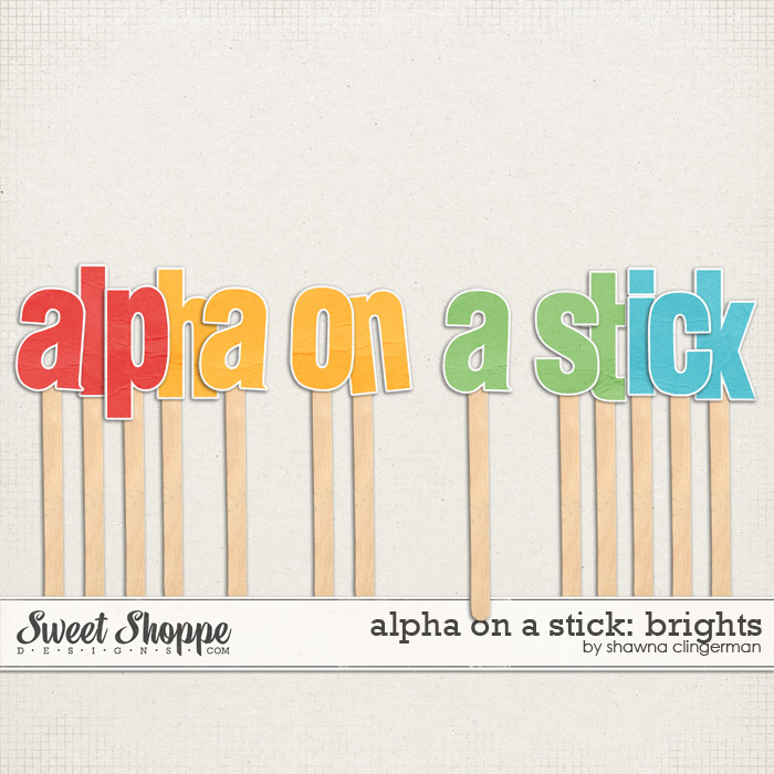 Alpha on a Stick: Brights by Shawna Clingerman