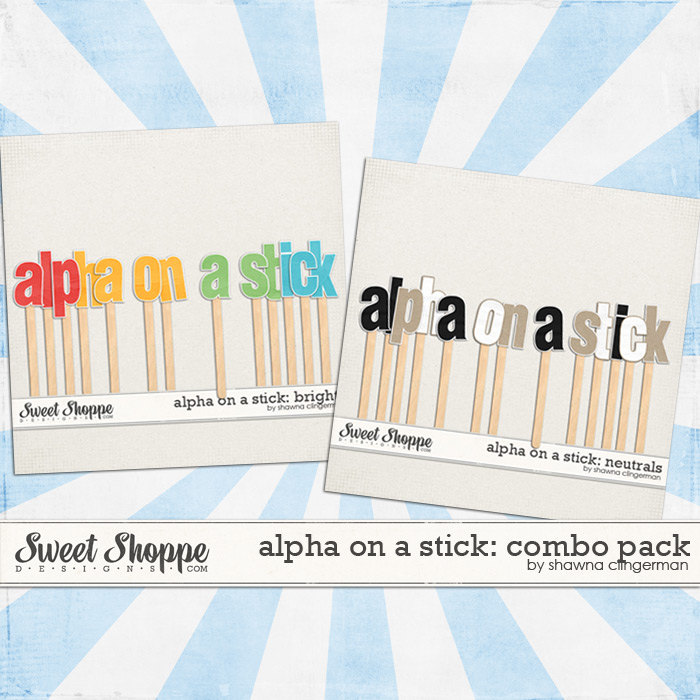 Alpha on a Stick: Combo Pack by Shawna Clingerman