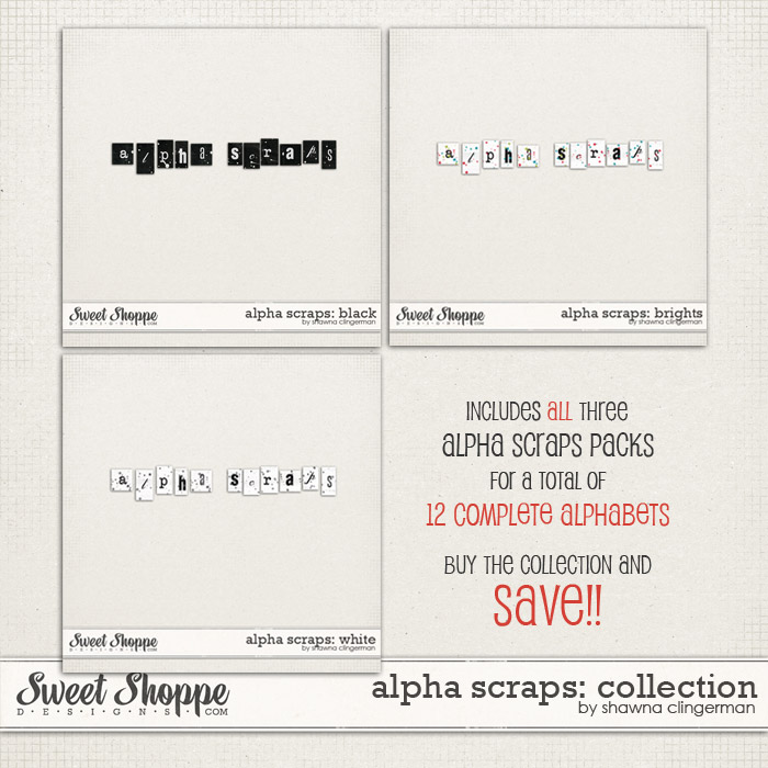 Alpha Scraps: Collection by Shawna Clingerman