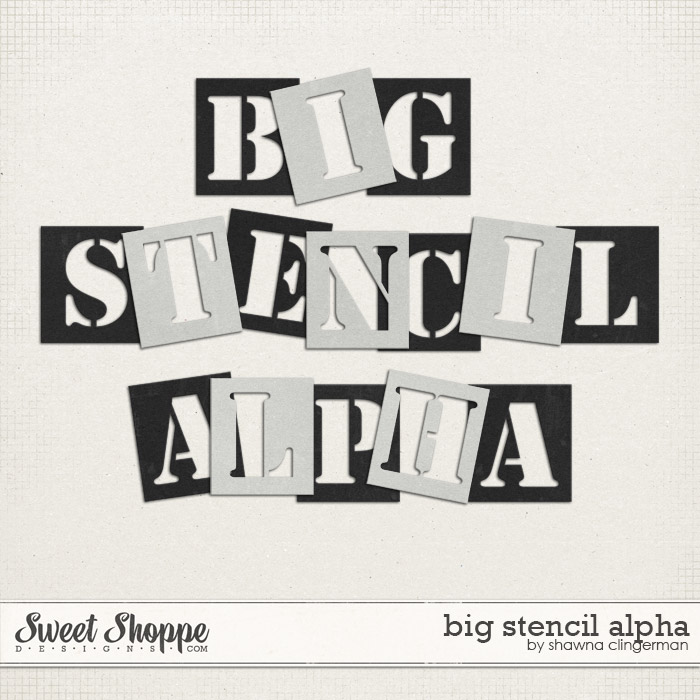 Big Stencil Alphabet by Shawna Clingerman