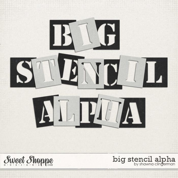 Big Stencil Alphabet by Shawna Clingerman