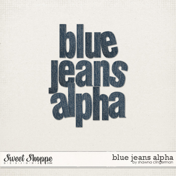 Blue Jeans Alpha by Shawna Clingerman